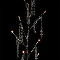 Arbre à LED argentée avec diamants 75 cm lot de 2