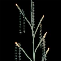 Arbre à LED blanc avec collier de perles 75 cm lot de 2