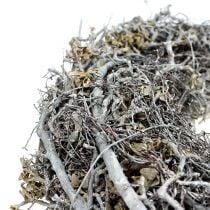 Couronne de branches Ø30cm blanc