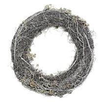Couronne de branches Ø40cm 1p. blanche