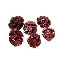 Cônes de cyprès 3cm rouge foncé 500g