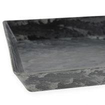 Plateau décoratif anthracite 27cm x 12cm