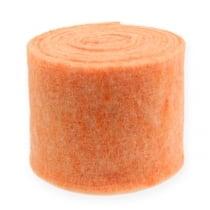 Bande de feutrine orange 15 cm 5 m