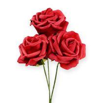 Mousse-Rose Ø6cm rouge 27pcs