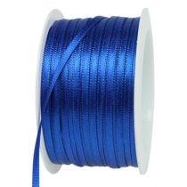 Ruban cadeau bleu 3mm 50m