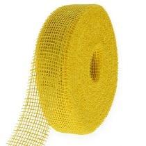 Ruban de jute jaune 5cm 40m