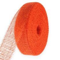 Ruban de jute orange 5 cm 40 m