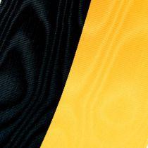 Rubans pour couronne moirés noir-jaune