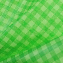 Papier de fleuriste 37,5 cm 100 m vert de mai av. carreaux