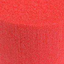 Mousse à piquer cylindree diam. 8cm rouge 6 piècess