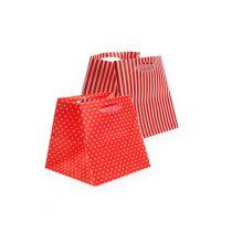 Lot de sacs en plastique rouges 6,5 x 6,5 cm 12 p.
