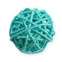 Balle en rotin bleu, turquoise, blanc (30 p.)