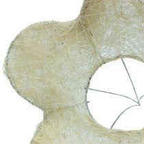 Support à bouquet en sisal blanchi Ø 25 cm 6 p.