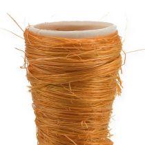 Cornet en sisal orange Ø 3,5 cm L. 40 cm 5 p.