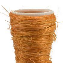 Vase pointu en sisal orange Ø 4,5 cm L. 60 cm 5 p.