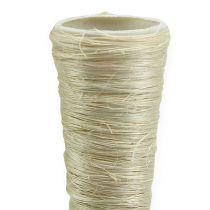 Vase pointu en sisal blanchi Ø 2,5 cm L. 30 cm 12 p.