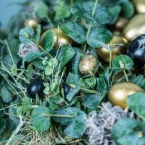 Oeuf de caille décoration noir vide 3cm décoration de printemps décoration nature 60pcs