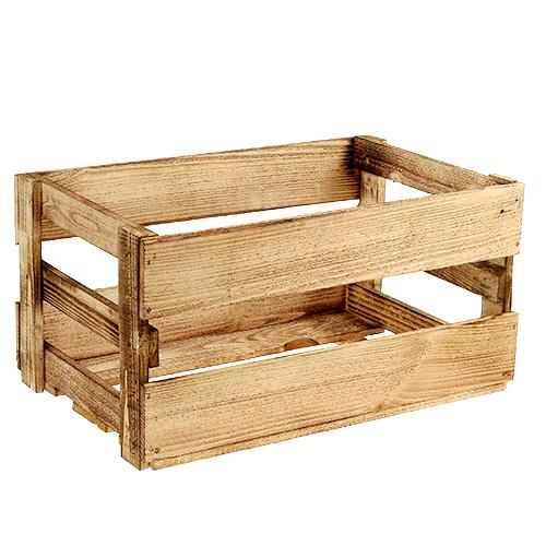 caisse vin d corative effet bois br l 46 x 31 x2 4 5 cm boutique en ligne d accessoires. Black Bedroom Furniture Sets. Home Design Ideas