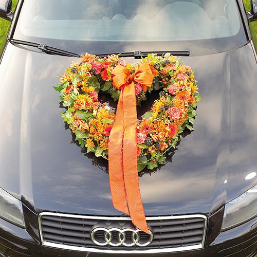 Mousse florale coeur ouvert tissu floral vert 38cm 2pcs décoration de mariage