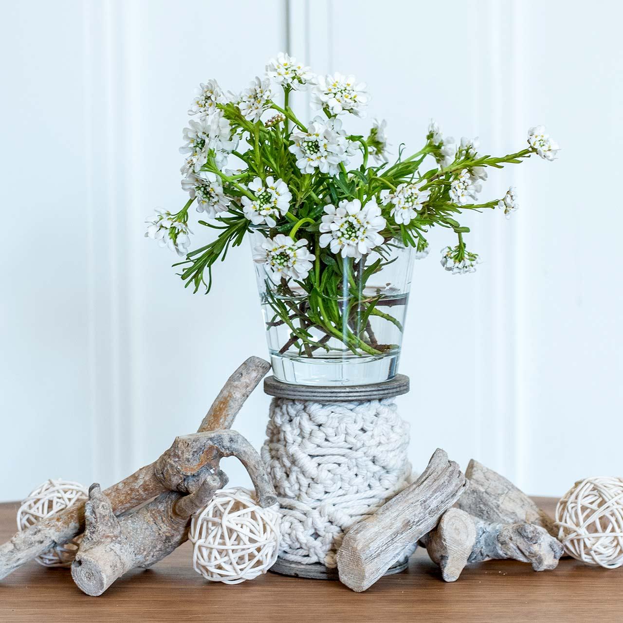 Vase en verre clair Ø8,5cm H8cm 6pcs