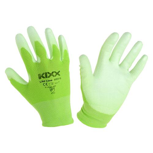 gants de jardinage kixx taille 7 vert clair citron vert boutique en ligne d accessoires pour. Black Bedroom Furniture Sets. Home Design Ideas