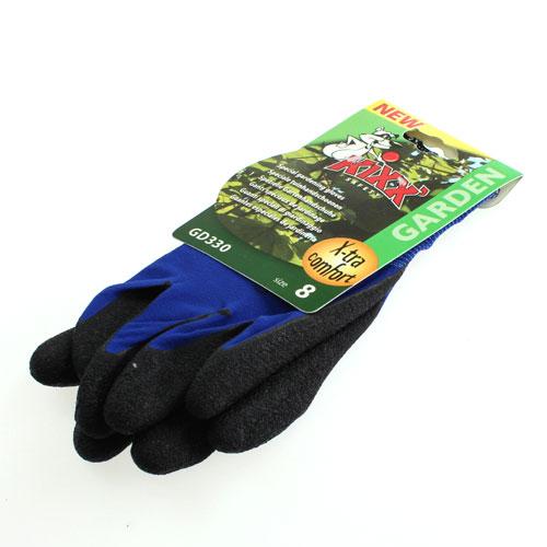 Gants de jardinage en nylon kixx taille 8 bleu noir for Site de jardinage en ligne