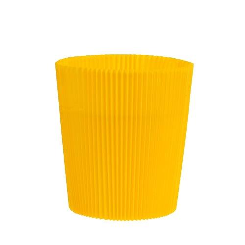 cache pots pliss s jaunes 12 5 cm 100 p articles de d coration. Black Bedroom Furniture Sets. Home Design Ideas