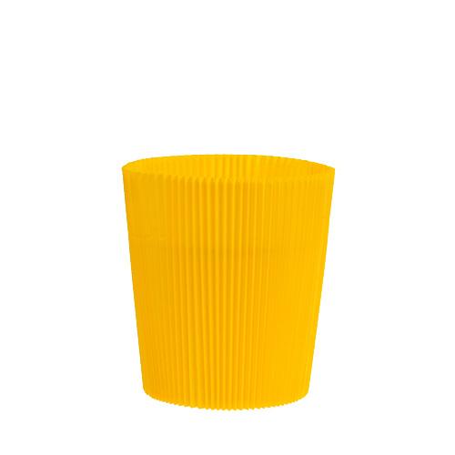 cache pots pliss s jaunes 8 5 cm 100 p articles de d coration. Black Bedroom Furniture Sets. Home Design Ideas