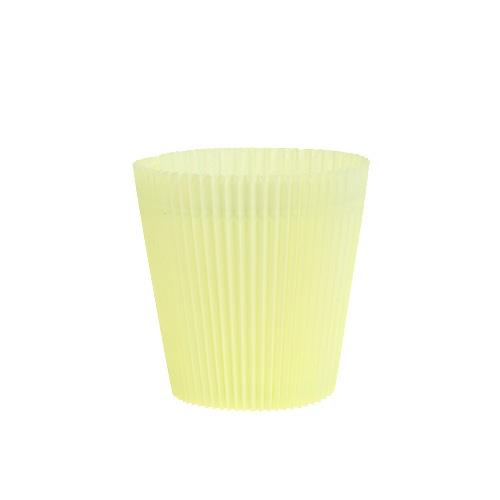 cache pots pliss s jaunes clair 8 5 cm 100 p articles de d coration. Black Bedroom Furniture Sets. Home Design Ideas