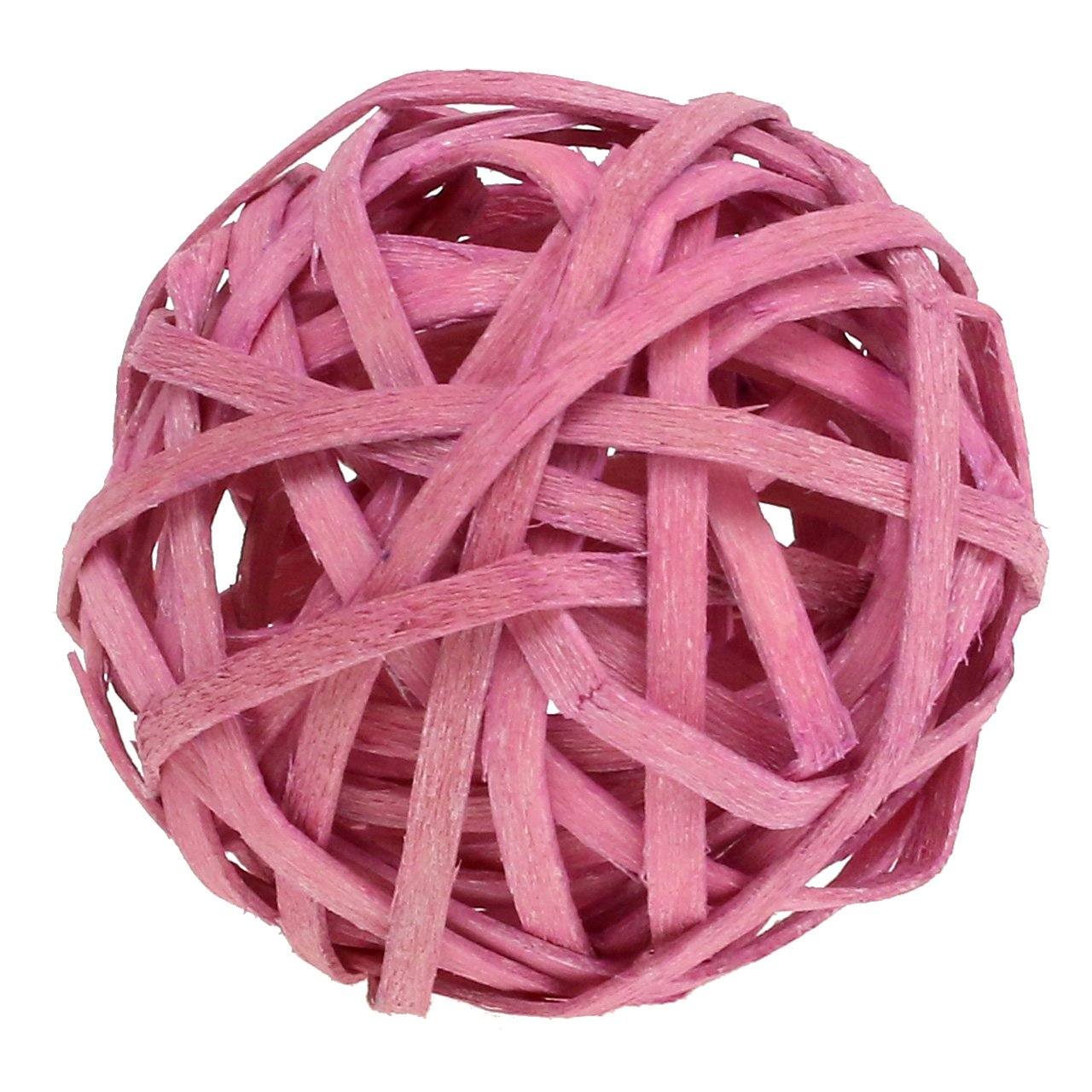 Boule en rotin rose Ø 4 cm 12 p.