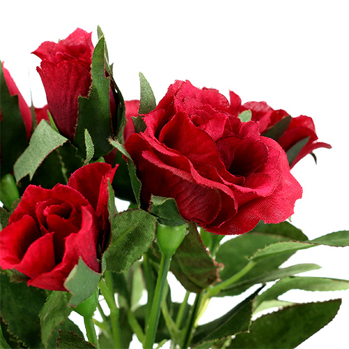 bouquet de roses avec mini roses 3 cm rouge l 26 cm 3 p articles de d coration. Black Bedroom Furniture Sets. Home Design Ideas
