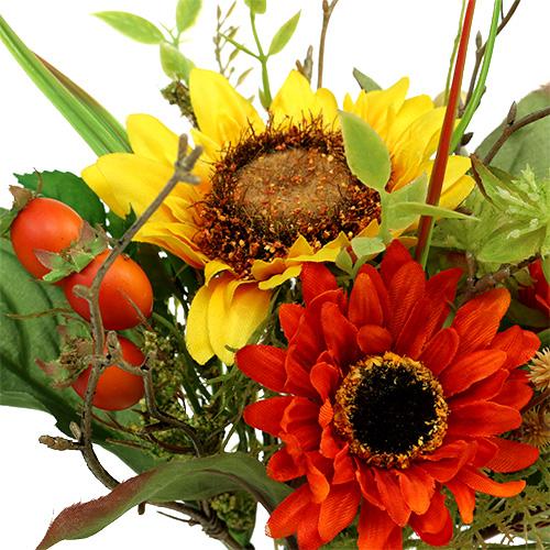Bouquet de fleurs de tournesol jaune 24 cm boutique en ligne d accessoires pour fleuristes et - Bouquet de tournesol ...