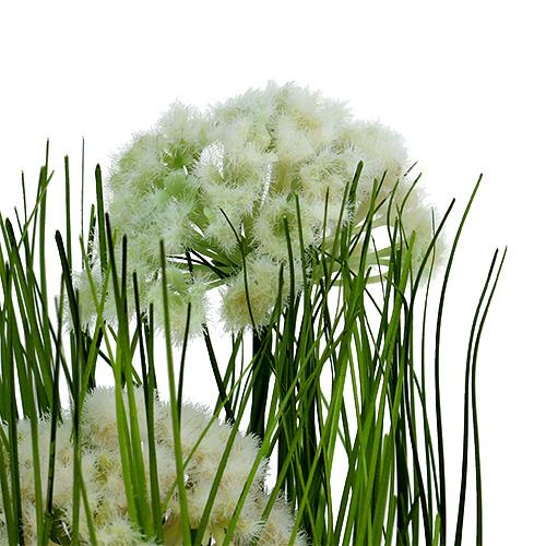 Herbe d ornement en pot pour table vert 30 cm boutique for Fenetre factice lumineuse