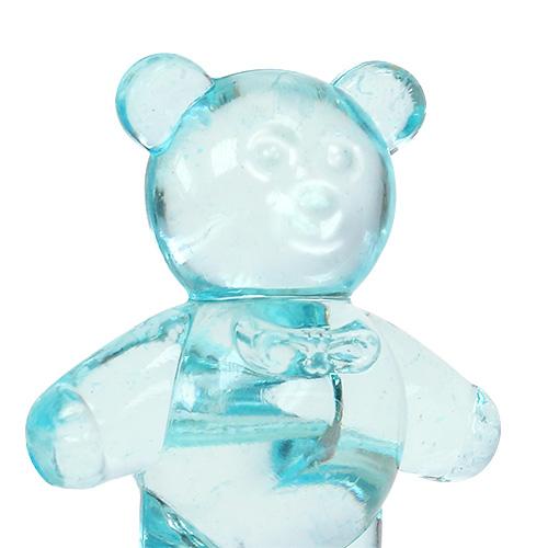 Décoration de table pour la naissance ours bleu 3.5cm 60p