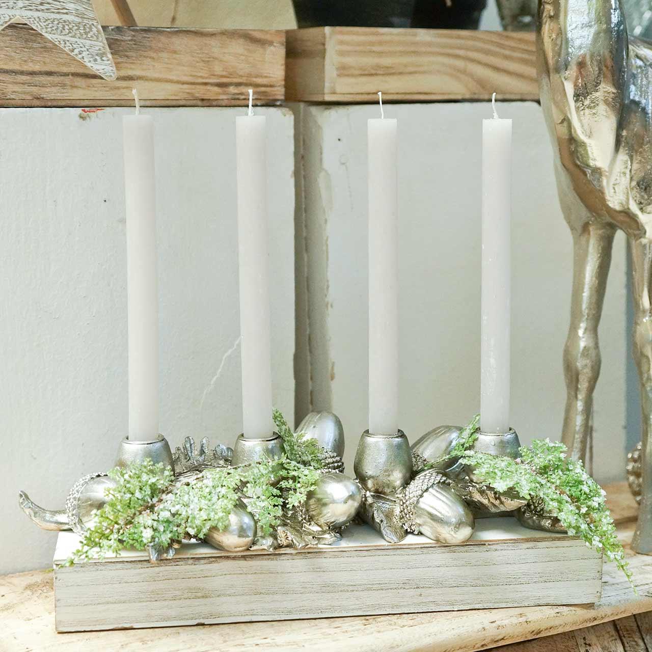 Bougeoir de décoration de Noël pour 4 bougies glands 44cm