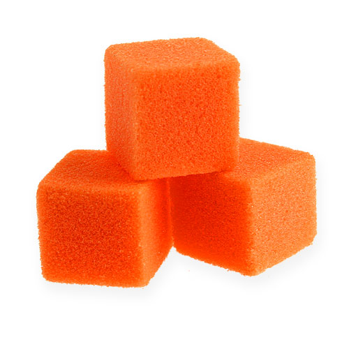 Mousse humide mini-cube orange 300p