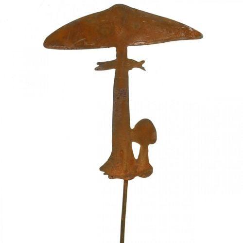 Décoration rouille champignon jardin bouchon métal décoration automne 44cm