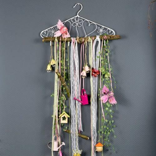 Cintre décoratif avec crochets Aspect vintage 40x23cm