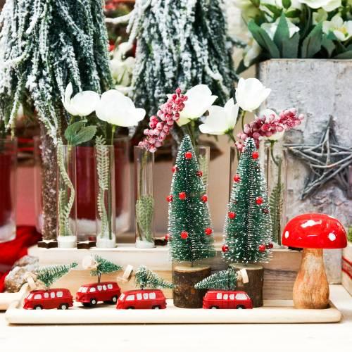 Décoration de sapin de Noël Voiture avec sapin Rouge / vert 2pcs