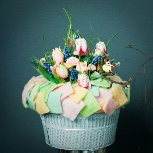 Bellis bouquet rose clair 24cm 4pcs