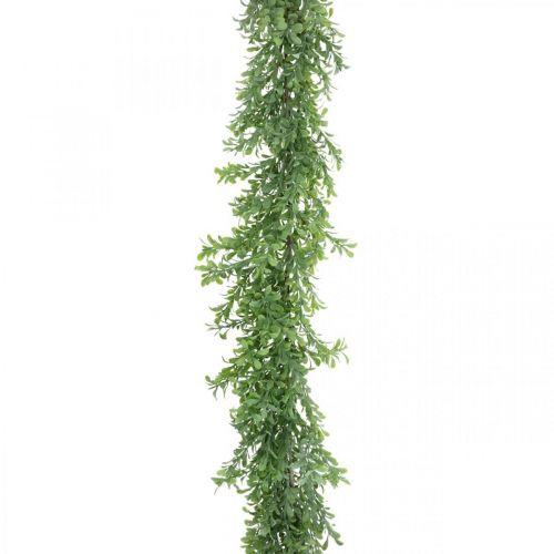 Guirlande de plantes artificielles, vrille de buis, déco verte L125cm