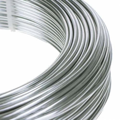Fil d'aluminium 2 mm 500 g argent
