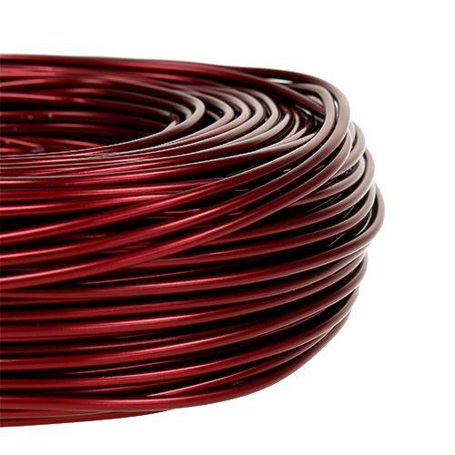Fil aluminium Ø2mm 500g 60m Bordeaux