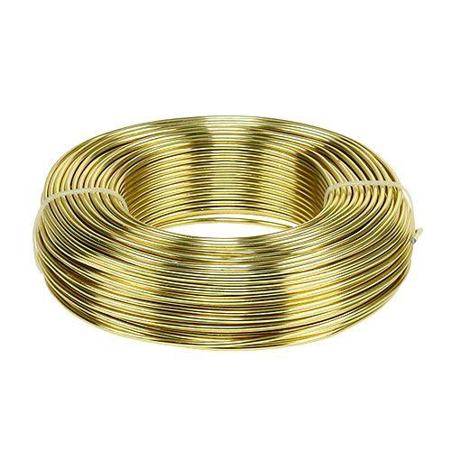 Fil en aluminium Ø 2 mm 500 g 60 m or