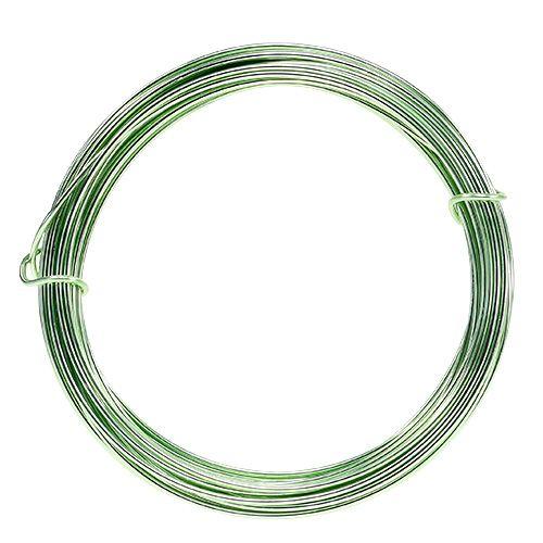 Fil d'aluminium 2mm 100g vert menthe
