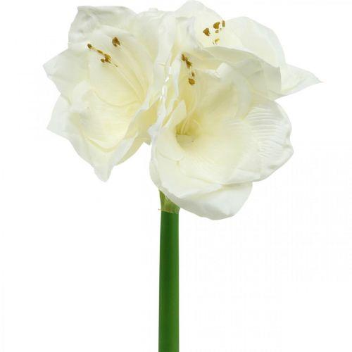 Fleur artificielle amaryllis chevalier blanc étoile décoration de Noël H40cm