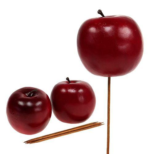 Pomme artificielle rouge Ø 7,5 cm 6 p.