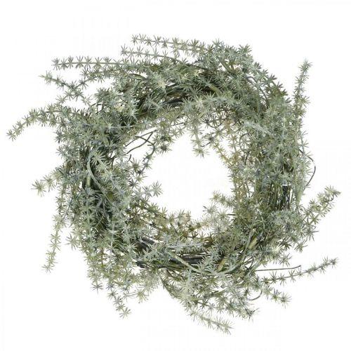 Couronne d'asperges artificielles blanc, gris Couronne d'asperges décorative Ø20cm