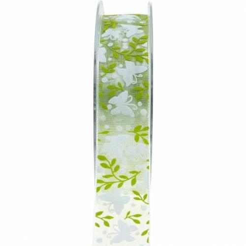 Ruban Décoratif Papillons 25mm Ruban Cadeau Ruban Organza Vert 20m