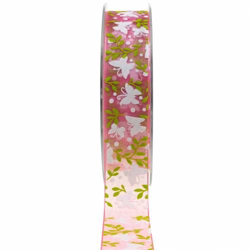 Ruban Organza Papillon 25mm Ruban Rose Déco Ruban Cadeau 20m